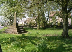Litton village green and monument.